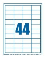 etikett cimke 48,5x25,4 44db-os
