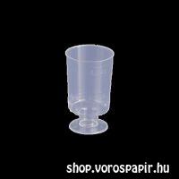 műanyag pohár 2-4 cl snapszos talpas