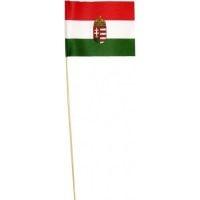 zászló papír nemzeti színű címeres 11,5x15,5 cm