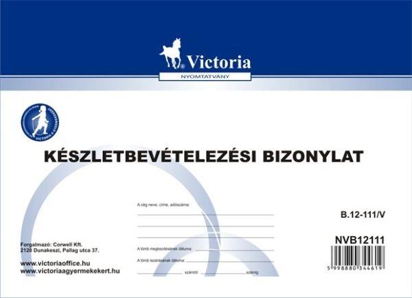 Anyag-eszköz bevételezési bizonylat B.12-111/V