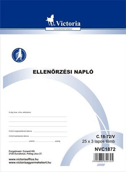 Ellenőrzési napló 25x3 C.18-72/V