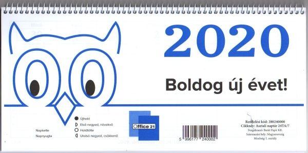 naptár asztali 24 TA 2020-as