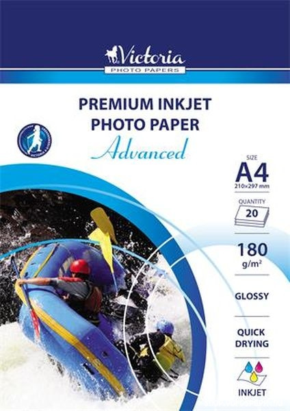 fotópapír A/4 180gr. 20 lapos fényes Victoria
