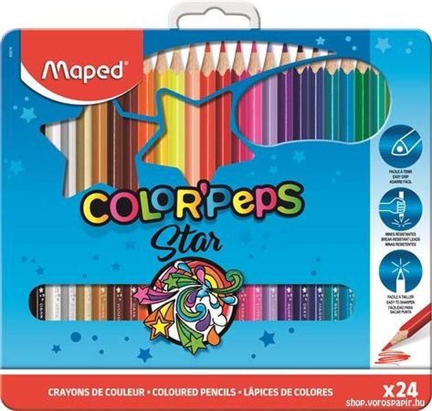 Maped színesceruza Color'Peps 24-es fém dobozban 832016
